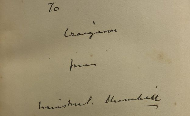 Winston Churchill signed book