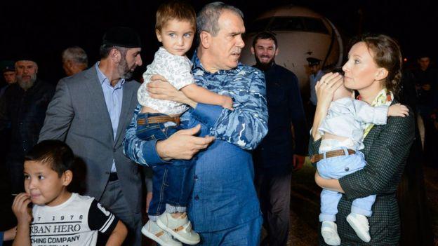 Возвращение сирийских детей в Москву