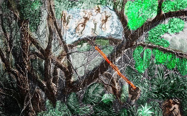 Cazadores en la selva