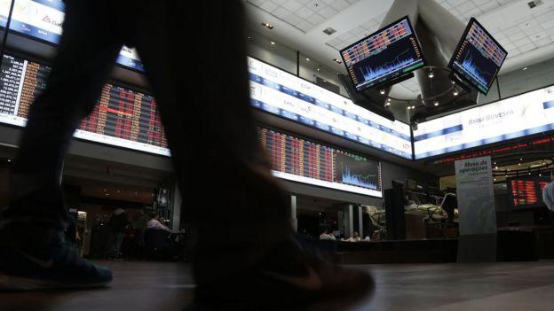 Bolsa de valores em São Paulo