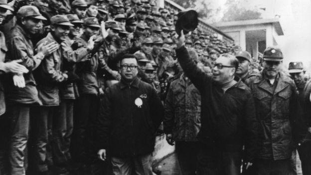時任行政院院長蔣經國1975年巡視金門