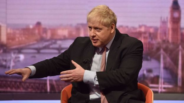 Boris Johnson on the BBC's Andrew Marr show in December