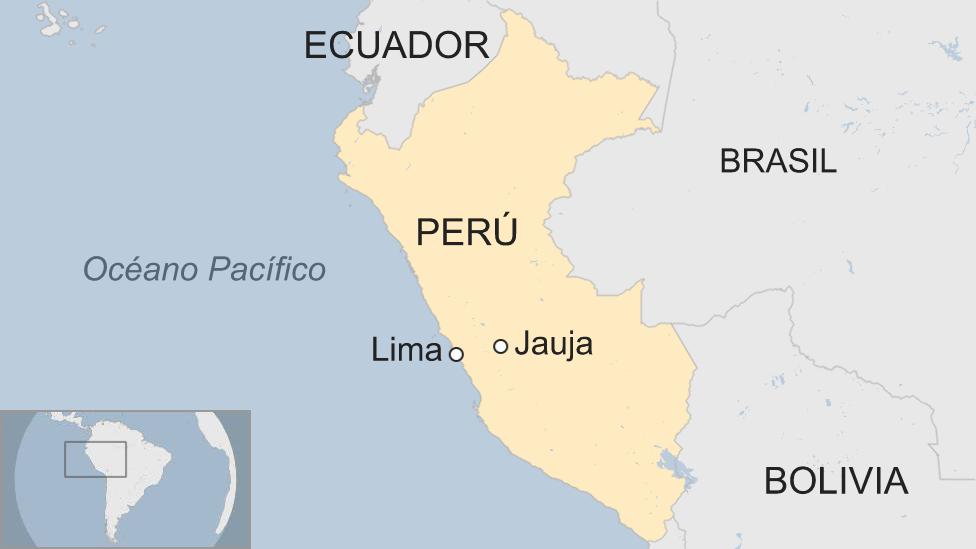 Mapa Jauja, Perú.