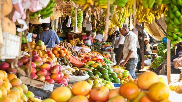 Mercado en Nairobi