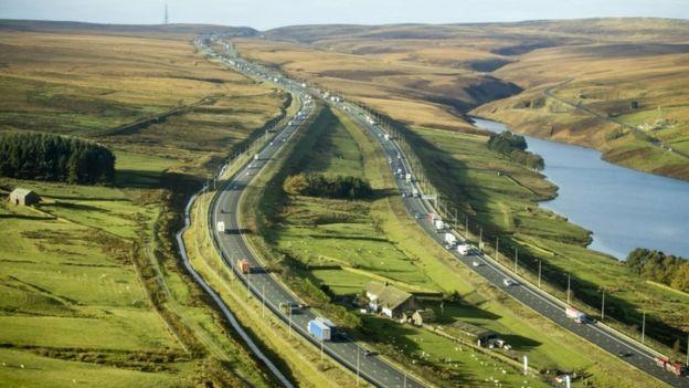 M62 near Huddersfield