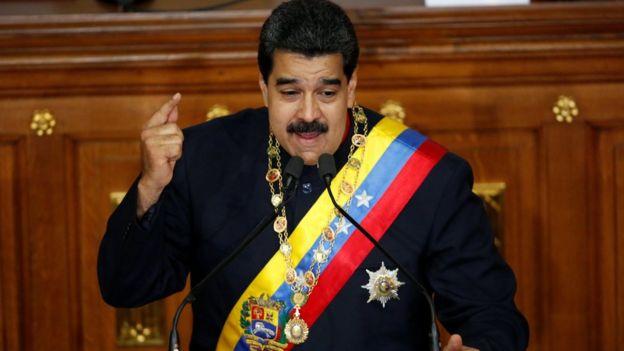Maduro hablando en la Asamblea Nacional Constituyente.