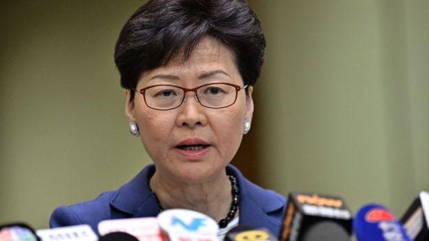 Carrie Lam, jefa Ejecutiva de Hong Kong.