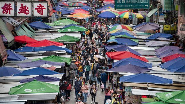Рынок в Гонконге 31 марта