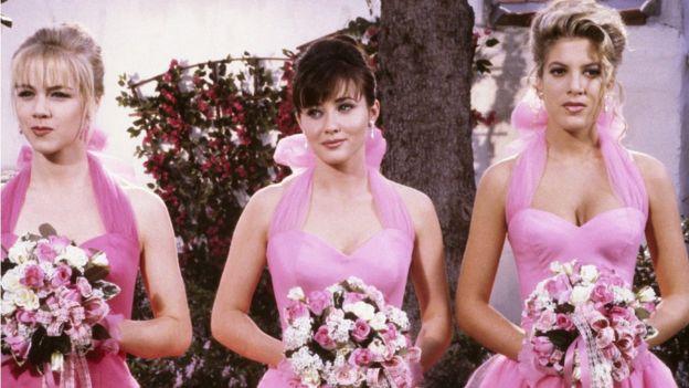Jennie Garth, Shannen Doherty y Tori Spelling.