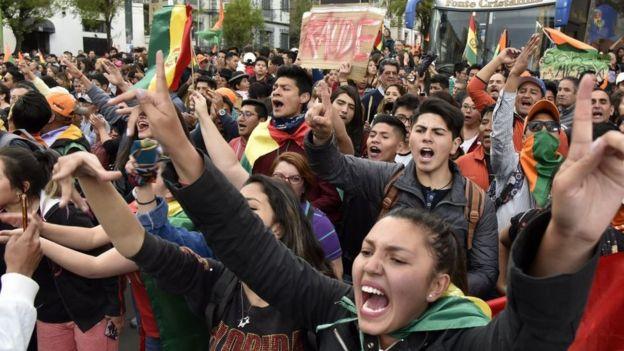 Manifestaciones en La Paz
