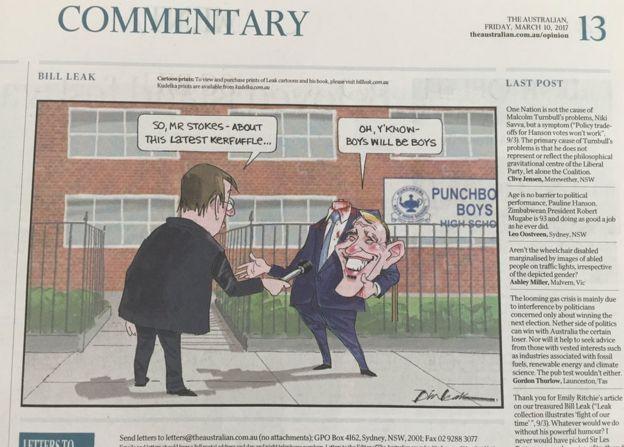 Bill Leak's final cartoon
