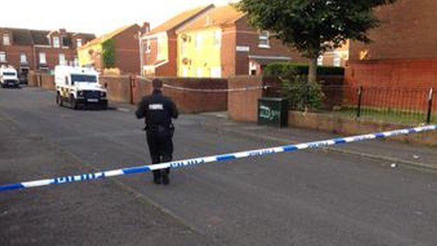 Mountforde Park and Comber Court have been sealed off after the murder