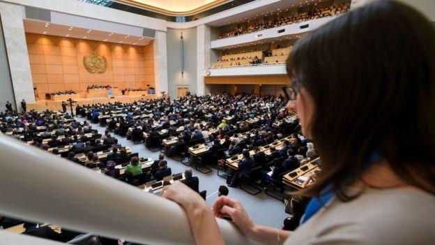 La OMS tiene su sede en Ginebra.