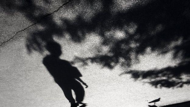 Sombra de uma criança