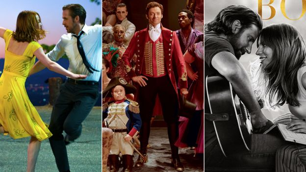 La La Land, The Greatest Showman and A Star is Born
