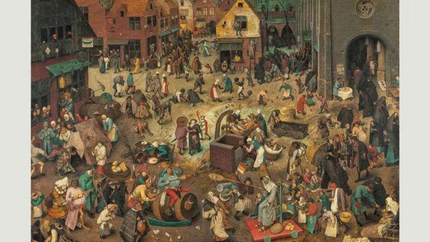"""""""La batalla entre el Carnaval y la Cuaresma"""" (1559)"""
