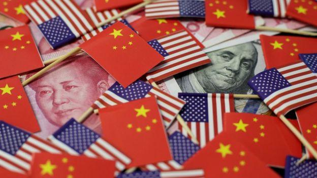 中美国旗与货币