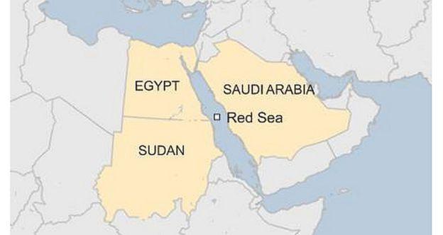 Saudi Arabia And Egypt Announce Red Sea Bridge BBC News - Map of egypt and saudi arabia