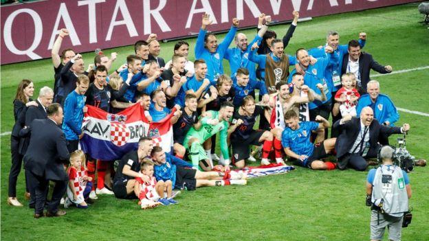 La euforia tras la victoria histórica de Croacia.