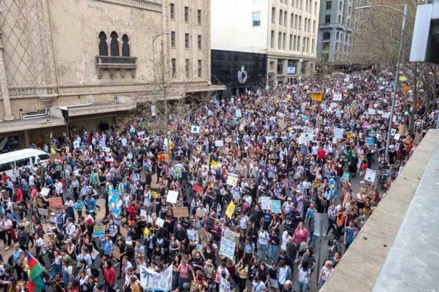 Marcha en Melbourne, Australia