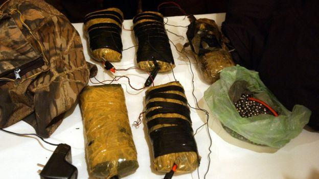 10 kilos de explosivo c4 recabados en 2002 por autoridades de Afganistán