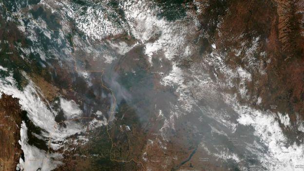 Orman yangınlarını uzaydan gösteren harita