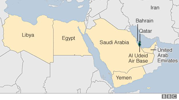 Qatar Row Saudi And Egypt Among Countries To Cut Doha Links BBC - Map of egypt and uae