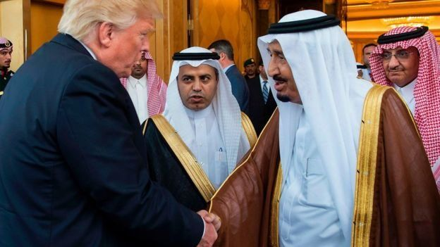 ٹرمپ اور سعودی شاہ