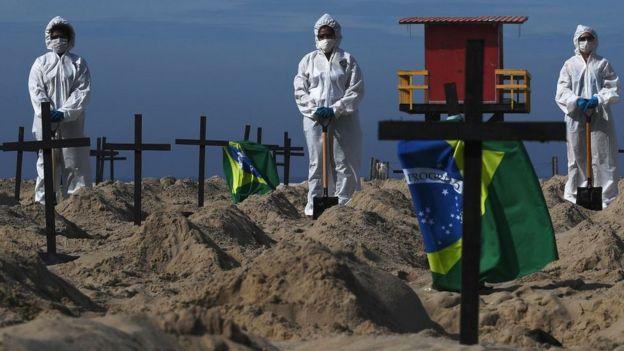 Protesta contra el coronavirus en Brasil