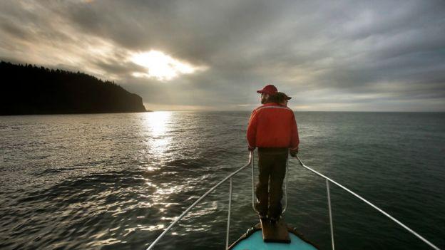 En la bahía de Fundy, en la costa atlántica de Canadá.