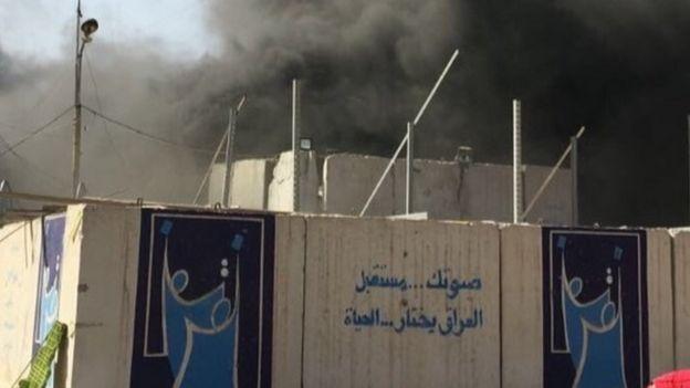 حريق مخازن مفوضية انتخابات الرصافة ببغداد