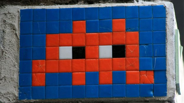 Invader art in London 2009