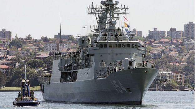 Tàu HMAS Parramatta của Hải quân Hoàng gia Úc mới đây đã tham gia các hoạt động tại Biển Đông