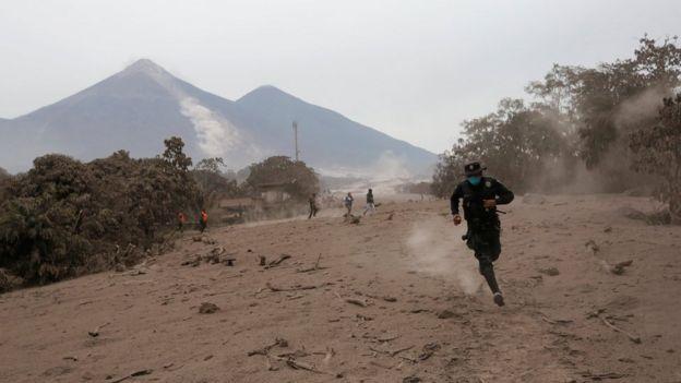 Volcán de Fuego, Guatemala.