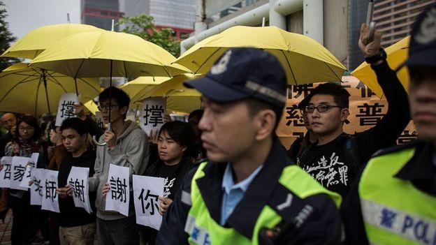 """雨傘是""""佔領中環""""運動的標誌之一。"""