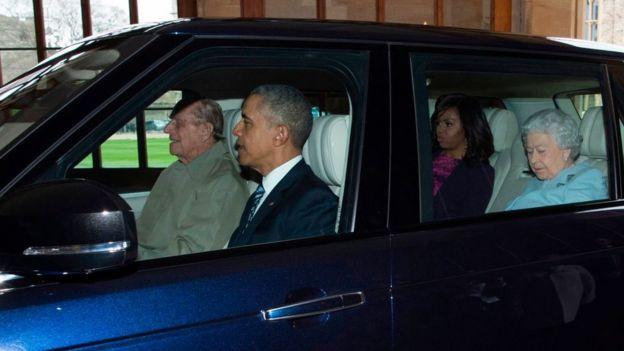 Принц Філіп, Барак Обама, Мішель Обама, королева