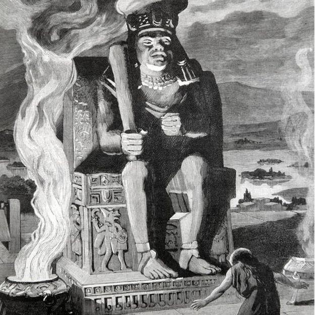 Huitzilopochtli era el dios azteca de la guerra.