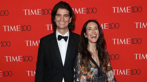 Adam e Rebekah Neumann em abril de 2018 em Nova York