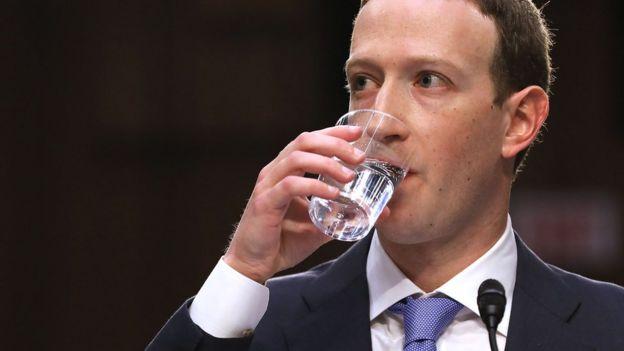 Mark Zuckerberg speaking to US senate