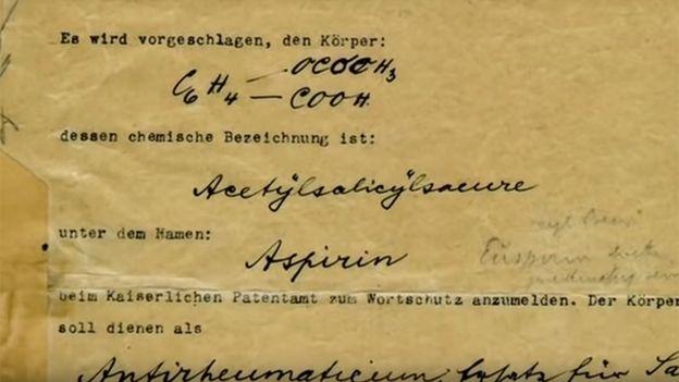 Documento de la creación de la aspirina