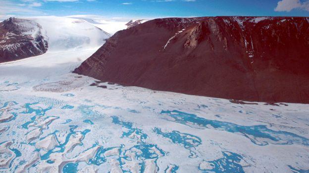 La plataforma de hielo Amery en la Antártida