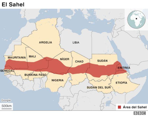 Desierto Del Sahara Mapa.El Cinturon Del Sahel El Escondite Del Yihadismo Que Cruza