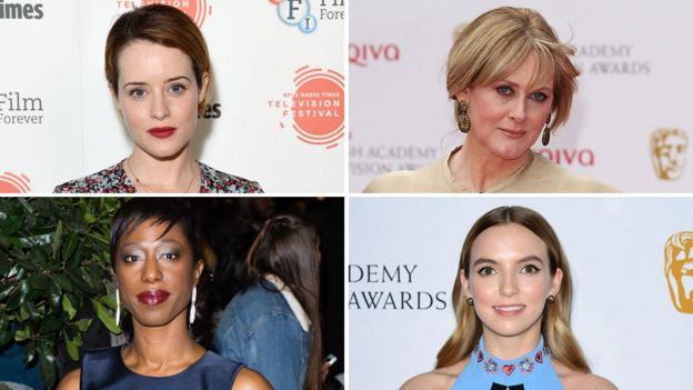 Leading actress nominees (clockwise from top left) Claire Foy, Sarah Lancashire, Nikki Amuka-Bird and Jodie Comer