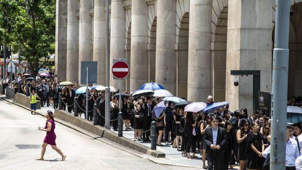 香港法律界游行