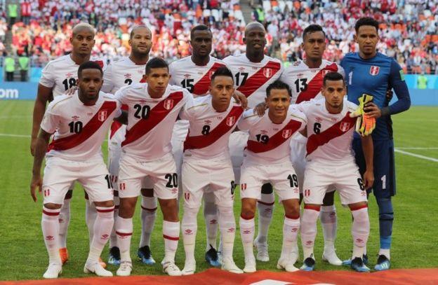 El equipo titular de Perú