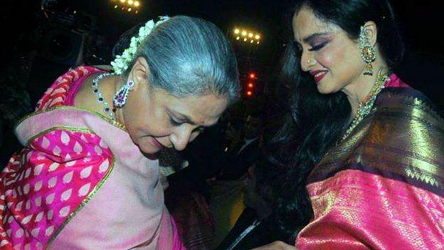 रेखा के साथ जया बच्चन