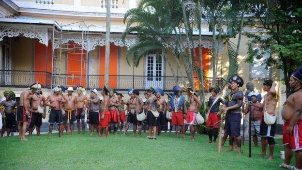 Atividade em comemoração ao Dia do Índio, no Museu do Índio, em Botafogo, no Rio (12/04/2014)