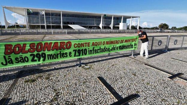 Protesta contra Bolsonaro