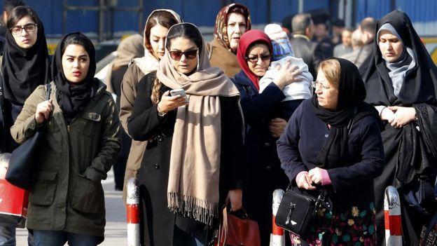 نساء إيرانيات ترتدين الحجاب