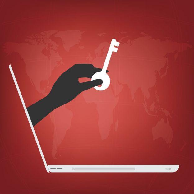 llave en una computadora